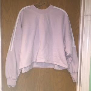 Adidas purple cropped sweater with embossing